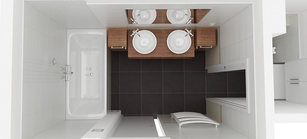 Celková rekonstrukce bytu v Praze v Bráníku. Půdorysné změny dispozice koupelny a toalety umožnily zvětšit prostor celé koupelny. Doba realizace 8 týdnů.