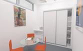 Realizace zasedací místnosti mezinárodní personální společnosti Pedersen & Partners na Příkopech v Praze. Nábytek je realizovaný dle návrhu. Decentní neutrální ladění je zjasněno oranžovožlutou barvou židlí, která se objevuje na logu společnosti. Transparentní kruhový stůl opticky zvětšil místnost. Doba realizace 1 týden.